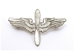 Vintage Sterling Silver Pilot Air Force Wings W Propell