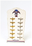 12 Vintage Gold & Sterling Silver Pilot Air Force Wings