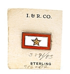 Military Wwii Sterling Silver 1 Star Sweetheart Pin