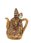 Old Chinese Export Brown Glaze Buddha Monk Teapot