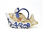 Old Japanese Kutani Imari Teapot Man Ride Fish