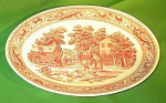 13 Inch X 10 Inch Oval Platter Memory Lane Royal China