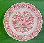 9 Inch Luncheon Plate Memory Lane By Royal China Crazing