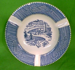 Ash Tray Currier Ives Royal China 5 3-8 In