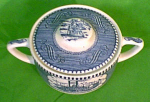 Sugar Bowl With Scrolls Currier Ives Royal China