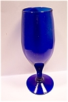 Large Cobalt Blue Art Glass Goblet