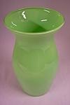 Handblown Cased Light Green Art Glass Vase