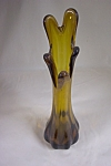 Taiwan Handblown Dark Amber Art Glass Bud Vase