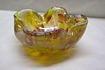 Murano Handblown Folded & Cased Art Glass Bowl