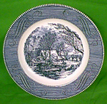 10 Inch Dinner Plate Currier Ives By Royal China