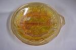 Marigold Fleur-de-lis Pattern Divided Dish