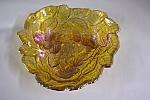 Marigold Grapes & Leaves Pattern Triangular Bowl