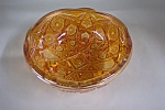 Imperial Merigold Carnival Glass Footed Bowl