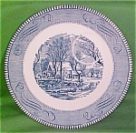9 Inch Snack Plate Currier Ives Royal China