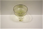 Noritake Crystal & Light Green Stemware Dessert