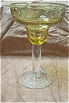 Amber & Controlled Bubbles Margarita Stemware Glass