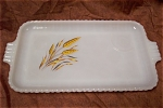 Fire King Wheat Snack Set Tray