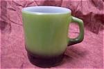 Fireking Avocado Green Mug With Black Base
