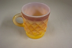 Fireking Kimberly Orange Glass Mug