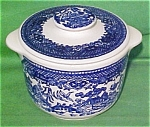 Early Tab Handled Sugar Bowl Blue Willow Ware