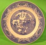 10 Inch Blue Willow Dinner Plate Royal China Early