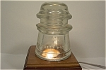 Hemingray #9 Clear Glass Insulator