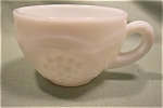 Grape Panel Milk Glass Punch Cup