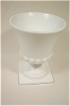 "Milk Glass 7"" Footed Vase"