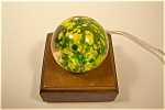 Abstract Green And Yellow Design Paperweight