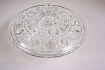 Daisy & Button Crystal Glass Covered Candy Dish