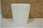 Hobnail Milk Glass Toothpick Holder