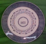 1977 Blue Calendar Plate Currier Ives