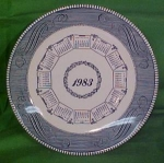 1983 Blue Calendar Plate Currier Ives