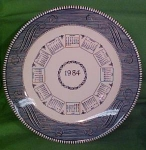 1984 Blue Calendar Plate Currier Ives