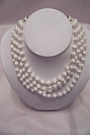 Vintage 4-strand White Bead Necklace