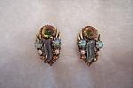Vintage Florenza Rhinestone Earrings