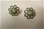 Vintage Turquoise Cabachons Earrings