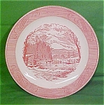 12 Chop Plate Pink Currier Ives Royal China