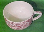 Teacup Scrolled Handle Pink Currier Ives Royal China