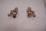Vintage Aurora Borealis Rhinestone Clip-on Earrings