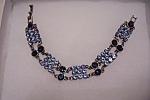 Vintage Blue Rhinestone Link Bracelet