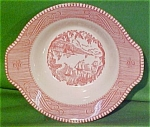 Tabbed Cereal Pink Currier Ives Royal China Tiny Chip
