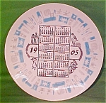 1965 Calendar Plate Blue Heaven Royal China