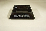 Camel Advertising Black Porcelain Ash Tray