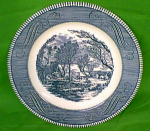 10 1/2 Dinner Plate Scarce Currier Ives Royal China