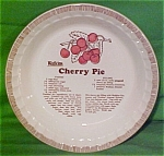 Cherry Pie Baker Sold By Watkins Made By Royal China