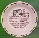Italian Cream Pie Baker By Watkins Made By Royal China