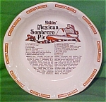 Mexican Sombrero Pie Baker By Watkins Made By Royal China