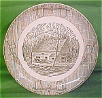 9in Currier & Ives Dinner Plate Scio Pottery