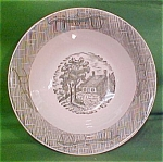 8 1/2 Inch Deep Vegetable Currier & Ives By Scio Pottery